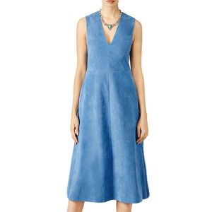 NWT TIBI Castora Blue Suede Dress